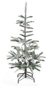 4 5 u0027 flocked noble fir artificial christmas tree unlit