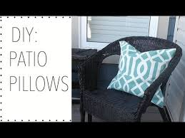 Diy Patio Cushions Diy Patio Pillows Home Decor How To Make Patio Pillows Youtube