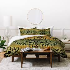gina rivas design green romance duvet cover deny designs