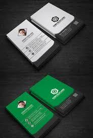 Flat Design Business Card Flat Corporate Business Card Businesscards Psdtemplates