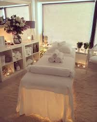 massage table decorative covers lighting under the table chiffon massage beautique pinterest