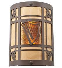 Meyda Tiffany Wall Sconce Meyda Tiffany 2 Light Celtic Harp Wall Sconce U0026 Reviews Wayfair