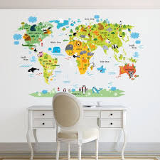 Best  Kids World Map Ideas On Pinterest World Wallpaper Kids - Wall decals for kids room