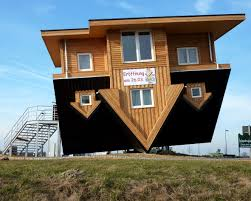 amazing house in germany that is upside down
