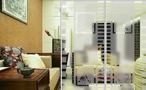 Glass Room Dividers  Aesthetic Appeal And Practical Home Decor - Living room divider design ideas