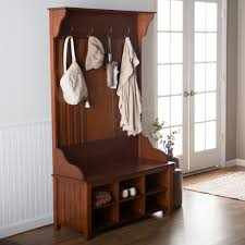 Entryway Bench And Storage Shelf With Hooks Decorations Simple Entryway Storage Bench Design With Iron Wire