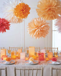 Homemade Pom Pom Decorations Tissue And Crepe Paper Crafts Martha Stewart