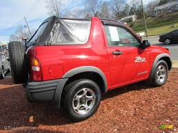 wildfire red 2001 chevrolet tracker zr2 soft top 4wd exterior