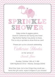 what is a sprinkle shower pink elephant baby sprinkle shower invitation pink grey girl