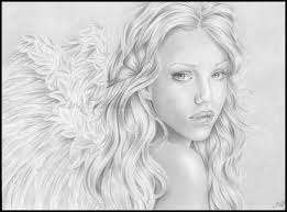 8 best images of pencil drawings of angels beautiful angel