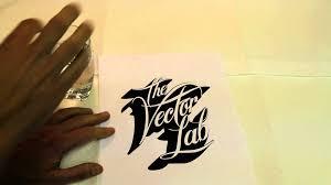 vector typography tutorial tutorial how to create custom typography youtube