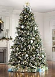 9 foot flocked tree home decoration