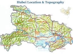 China Rivers Map by Hubei Topographic Map Hubei Location In China