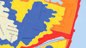 Jersey Shore Map Monmouth County U0027s Coastal Evacuation Map Is First Of Its Kind In