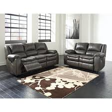 ashley furniture long knight reclining livingroom set in gray