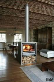 Indoor Outdoor Wood Fireplace Double Sided - hard to say no to this would you love to live here corten