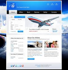 free website template for airlines company