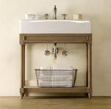 Restoration Hardware Bathroom Storage by Console Sink With Metal Legs Foter