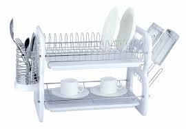 Dish Drainers Euro Ware 2 Tier Plastic And Chrome Dish Rack U0026 Reviews Wayfair