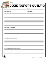 book report template 4th grade book report forms