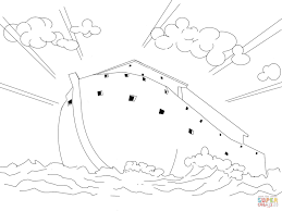 noah u0027s ark coloring page free printable coloring pages