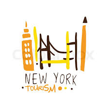 New York Travel Agencies images New york tourism logo template hand drawn vector illustration for jpg