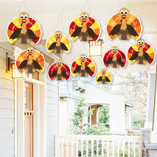 hanging thanksgiving turkey outdoor fall harvest hanging porch