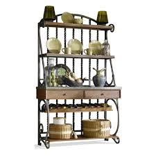bakers rack with cabinet furniture simple metal bakers rack with understated look fits your