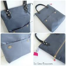 pattern for tote bag with zipper zip me up tote bag pattern allfreesewing com