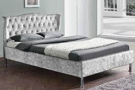 Velvet Bed Frame Velvet Bed Frame White Bed