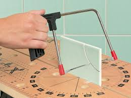 How To Cut A Blind To Size How To Cut And Install Tile Around Obstacles How Tos Diy