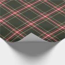 christmas plaid wrapping paper wrapped in christmas plaid wrapping paper zazzle