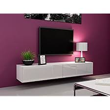 white wall mounted cabinet amazon com seattle tv stand 180 cabinet with high gloss elegant