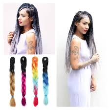 ombre human braiding hair ombre xpression braiding hair kanekalon gray braiding hair
