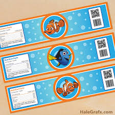 printable finding nemo water bottle labels