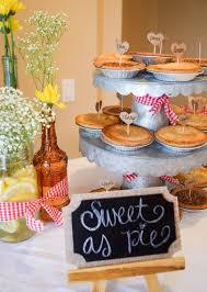bbq baby shower ideas bbq baby shower babyq dessert table mini pie gingham