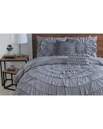 Ruffle Bedding Set Find The Best Savings On Circle Ruffle Comforter Set Grey
