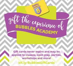 gift cards for small business gift card special through small business saturday bubbles academy