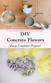How To Make Homemade Concrete by Diy Concrete Flowers Easy 2 Minute Project Anika U0027s Diy Life