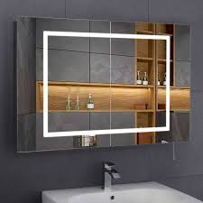 Illuminated Bathroom Mirrors Inspiring Illuminated Bathroom Mirror Cabinets With Shaver Socket