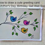 birthday card drawing 25 unique hand drawn cards ideas on