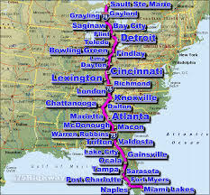 road map of southeast us i 75 interstate 75 road maps traffic news