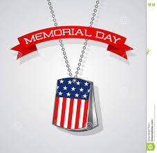 remembrance dog tags memorial day banner design with soldier dog tags and flag stock
