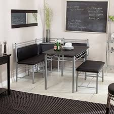 amazon com breakfast nook black family diner 3 piece corner