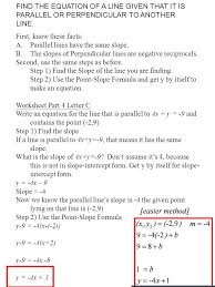 equations of straight lines find the equation of the line that has