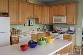 Kitchens With Light Wood Cabinets Kitchen Light Cherry Cabinets Combined With White Solid