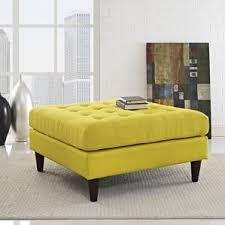 yellow ottomans u0026 poufs you u0027ll love wayfair