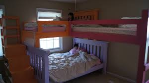 bunk beds for girls rooms ana white simple bunk bed with a triple twist and cubby steps
