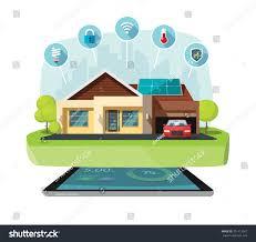 smart home modern future house illustration stock illustration