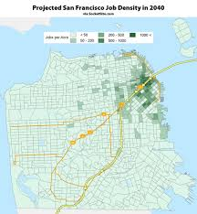 Big Bus San Francisco Map by Socketsite Where The Most San Franciscans Will Live And Work In